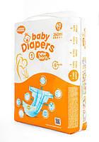 Подгузники Bаby Diapers размер №1 New Born 60 шт 2-4 кг 260 мл, фото 1