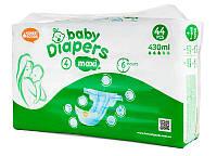 Подгузники Bаby Diapers размер №4 Maxi 44 шт 9-14 кг 430 мл