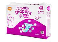 Подгузники Bаby Diapers размер №5 Junior 38 шт 12+ кг 520 мл