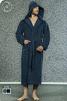 Халат мужской махровый Бамбук c капюшоном фирмы NUSA
