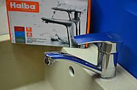 Смеситель для умывальника Haiba Onix - Chr.-555-15 см с креплением на гайке