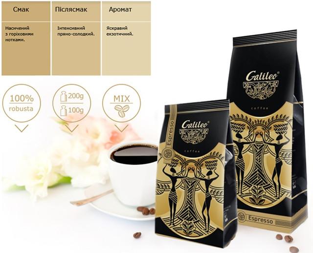 Кофе Галилео еспрессо фото