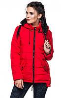 Куртка женская демисезонная красного цвета ( р. 44-54 )
