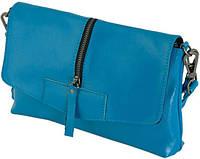 Женская сумочка-клатч из кожи Traum 7312-07, голубой