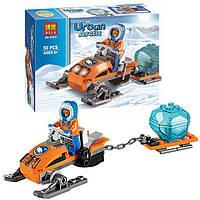 """Конструктор Bela 10437 (аналог Lego City 60032) """"Арктические аэросани"""", 50 деталей"""