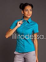 Рубашка с коротким рукавом бирюзовый, фото 1