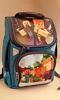 Каркасный ортопедический рюкзак для мальчиков младших классов c героями Майнкрафт
