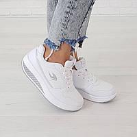 Кроссовки из искусственной кожи белого цвета