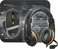Игровой набор Defender Warhead MPH-1600 черный,мышь+гарнитура+ковер