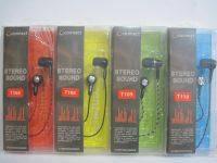 Вакуумные наушники для телефона и плеера Connect (тканевый шнур)