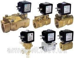 Клапаны электромагнитные для воды, воздуха, пара, газа.