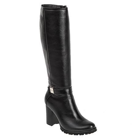 36, 40 р Сапоги женские Alamo (черные, кожаные, стильные, удобные, на  каблуке) 9065b27db63