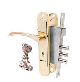Замки врезные с ручками под сувальдный ключ