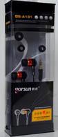 Вакуумные наушники для телефона и плеера Gorsun GS- А 131 (тканевый шнур)