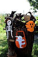 Сумка-тыква / белая мумия ( для сладостей ) Хэллоуин, фото 1
