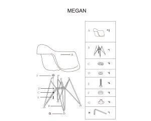 Кухонный стул MEGAN - белый( Signal ), фото 2