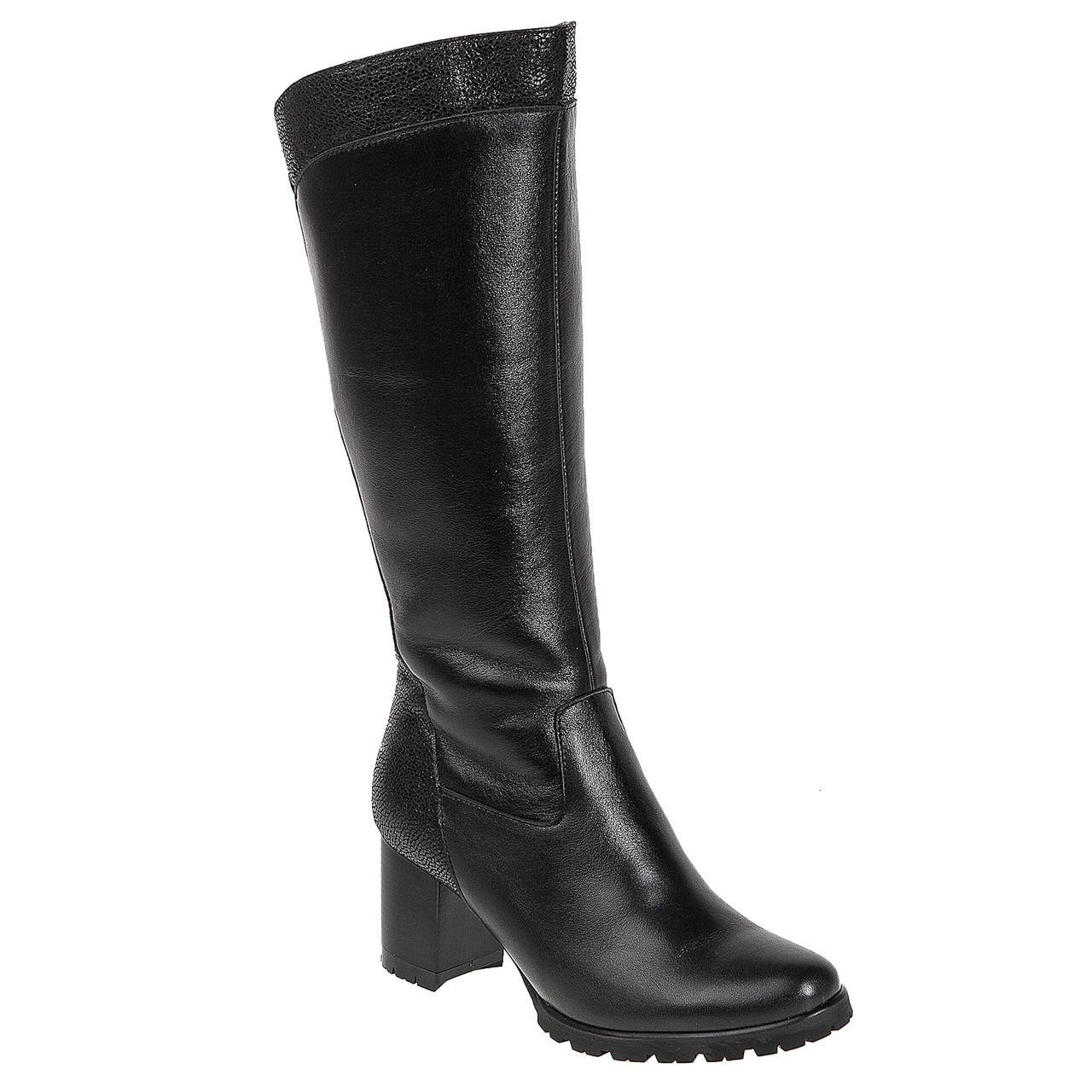 e23d5ad6 Купить Сапоги женские Alamo (чёрные, удобные, на устойчивом каблуке ...
