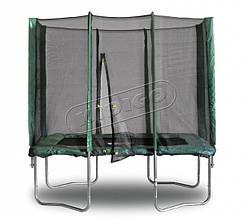 Прямоугольный батут KIDIGO™ 215 х 150 см. с защитной сеткой
