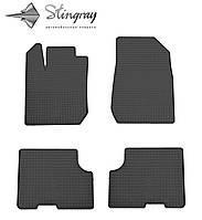 Dacia Sandero  2013- Комплект из 4-х ковриков Черный в салон. Доставка по всей Украине. Оплата при получении