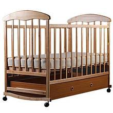 Детская кроватка Наталка ящик светлый (ольха)