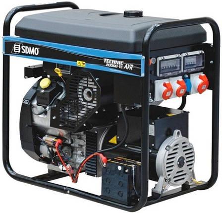 Генератор бензиновый SDMO Technic 20000 TE-AVR + MODYS (15,2кВт), фото 2