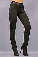 Никки. Женские брюки больших размеров утепленные. Черный.
