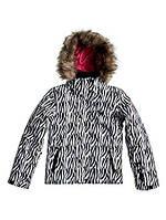 Подростковая горнолыжная куртка Roxy Jet SKI Girls' Snowboarding Jacket WBB8-BRT WHITE ZEBRA