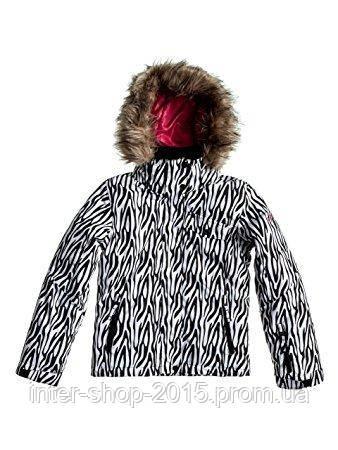 Подростковая горнолыжная куртка Roxy Jet SKI Girls' Snowboarding Jacket WBB8-BRT WHITE ZEBRA - INTER SHOP в Харькове