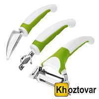 Набор ножей для чистки и фигурной нарезки овощей и фруктов Triple Slicer 3 в 1