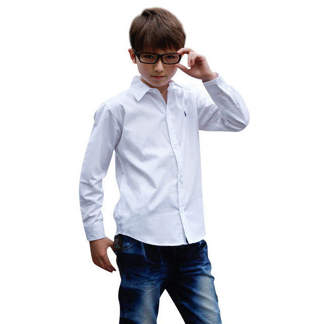 Детские рубашки длинный рукав