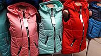 Жилетка для девочек-подростков, разные цвета, размеры от 146 до 158