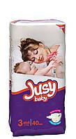 Подгузники Jusy 3 (5-9 кг) 40 шт.