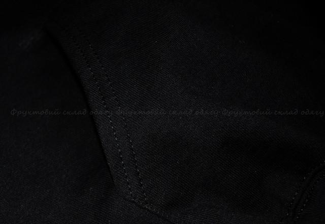 Чёрная мужская классическая толстовка с капюшоном