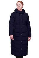 Женское Зимноее пальто полуприталенного силуэта с высоким воротником-капюшоном  48-64р 58