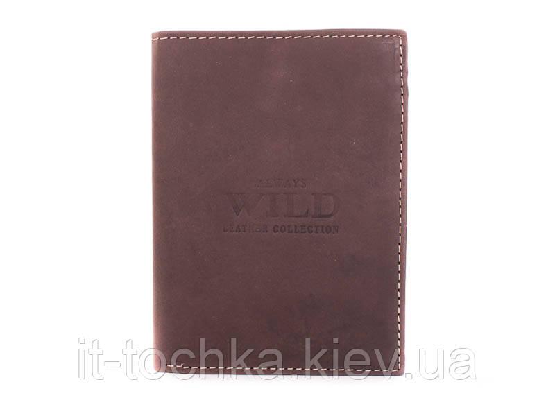 Портмоне мужское кожаное always wild (ОЛВЕЙС  ВАЙЛД) dnkd1072-mnu-brown