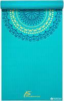 Дизайнерський килимок для йоги ProSource Mandala Yoga Mat 183x61x0.5 см Блакитний