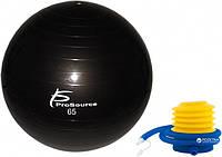 Гімнастичний м'яч ProSource Stability Exercise Ball 65 см Чорний