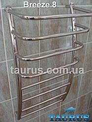 Полотенцесушитель Breeze 8/500 из нержавеющей стали; объемный с выгнутым каркасом стоек