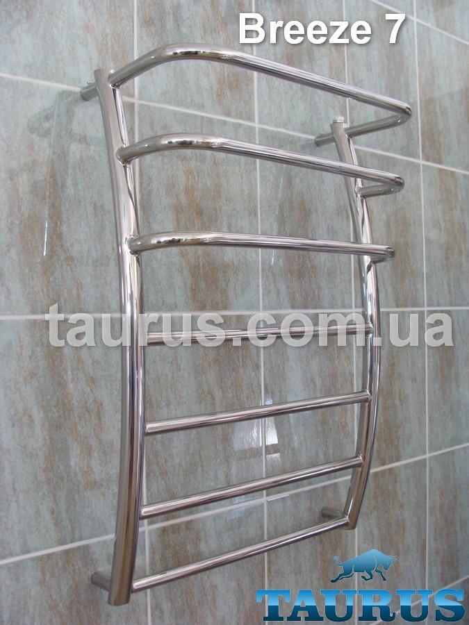 Водяной полотенцесушитель Breeze 7-3/500 из нержавеющей стали.