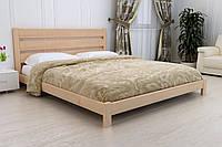 Деревянная кровать Юлия из массива ольхи.