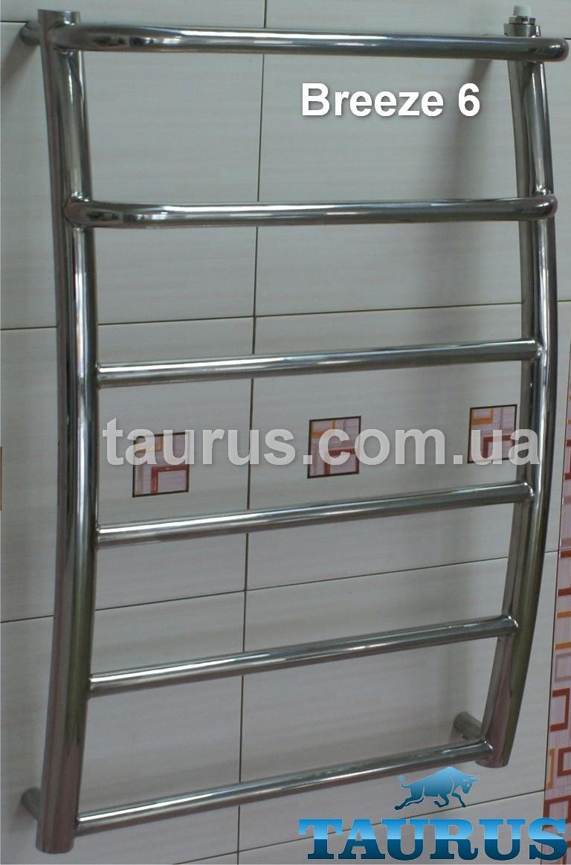Полотенцесушитель Breeze 6-2 / 650х450 из нержавеющей стали с выступающими полочками