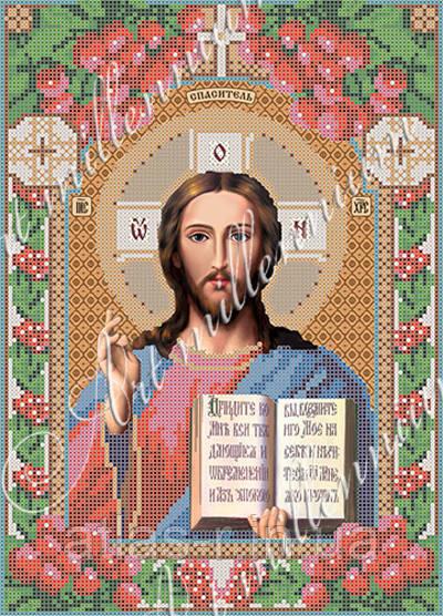 """А4 """"Господь Вседержитель"""" (венчальная пара) схема для вышивки бисером иконы"""