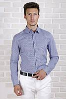 Рубашка с длинным рукавом в синюю полоску, фото 1