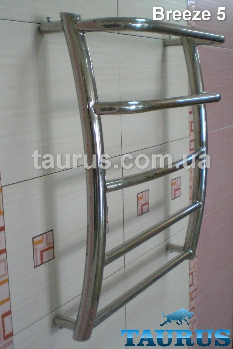 Полотенцесушитель компактный Breeze 5-2/450 из нержавеющей стали