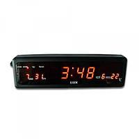 Электронные часы lux 808-1, настенные / настольные, большой размер, ярко-красные цифры, календарь, термометр