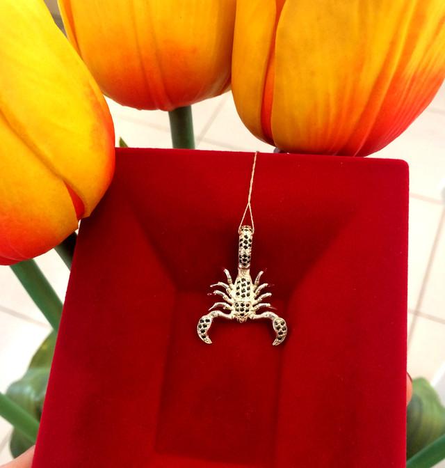 Мужская подвеска кулон Скорпион серебро 925 фото 1