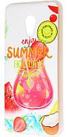 Чехол для Meizu M3 с принтом летние каникулы