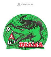Силиконовая шапочка для плавания Diana Gator