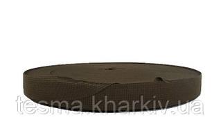 Тесьма окантовочная 18 мм 2 поперечных светло-коричневый