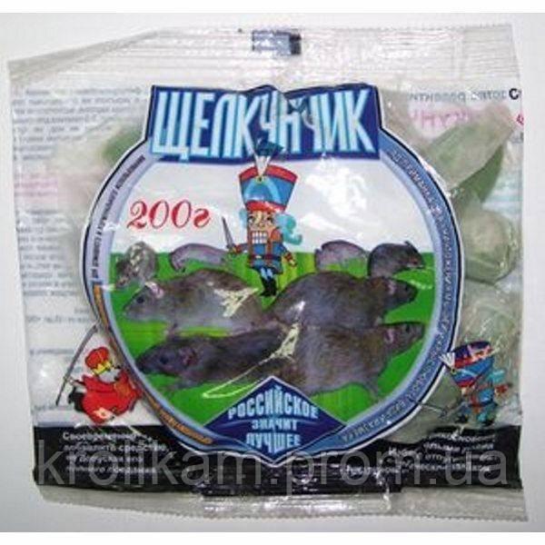Щелкунчик зерно зеленое 200 г аналог смерть грызунам 70 шт ящ